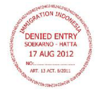 denied entry stamp