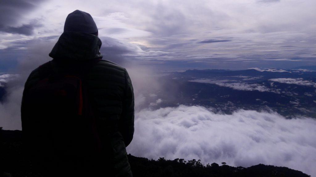 Hiking Mount Kerinci Sunset at Shelter 3